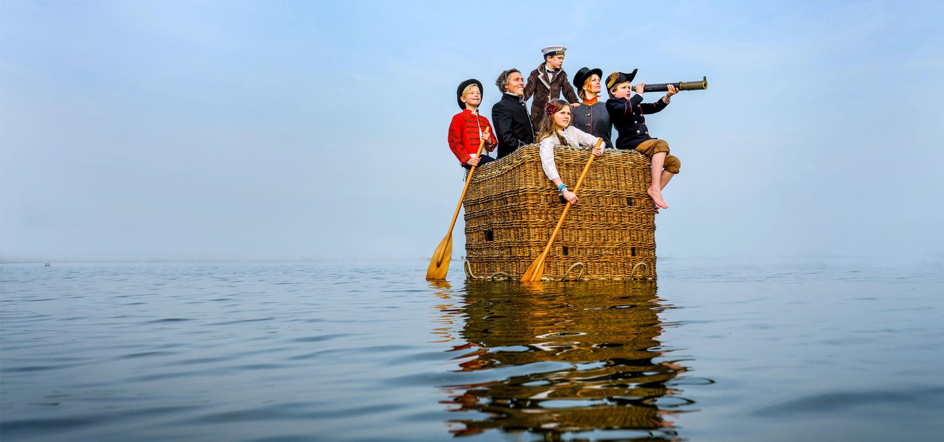 Familiefotografie op het water